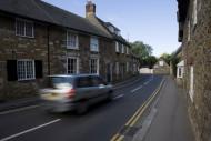 Traffic in Abbotsbury, Dorset...
