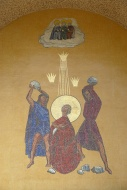 Mural of the stoning of St. S...