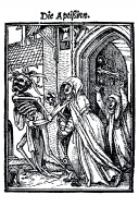 Woodcut, The Abbess, Hans Hol...