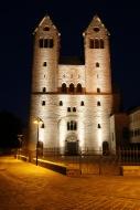 Abdinghof monastery at night,...