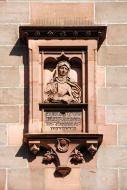 Relief of abbess Caritas Pirc...