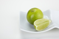 Lime (Citrus latifolia) and a...