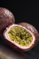 Two passion fruits (Passiflor...