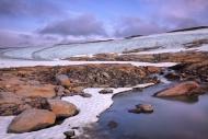 The melting glacier near Rago...