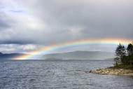Rainbow over Saedvajaure lake...