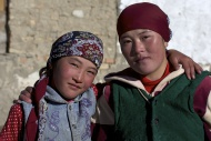 Kirghiz people, girl and woma...