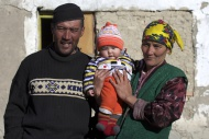 Kirghiz couple with a baby, P...
