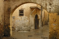An arch and facades in the Ci...