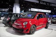 The Fiat 500 Abarth on displa...