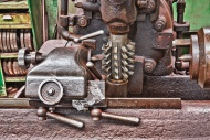 Old turning lathe, detail, in...