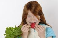 Girl with radish