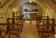 a chapel underneath the monas...