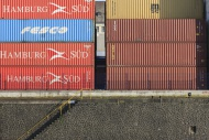 Containers on a quay wall, Fr...