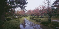 Japan, View of japanese park ...