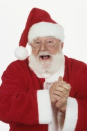 Santa Claus, laughing, portrait
