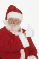 Santa Claus, thumbs up, portr...