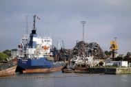 Old ship being dismantled to ...