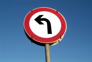 traffic sign turn to one\'s left