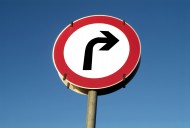 traffic sign turn to one\'s r...