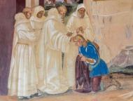 Fresco depicting the life of ...