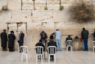 Orthodox Jews praying at the ...