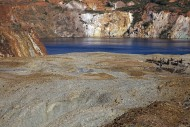 Abandoned open-pit copper min...