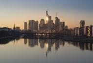 Germany, Frankfurt, skyline w...