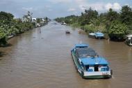 Vietnam, Mekong, freight ship...