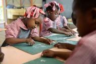 Haiti, Grand Boulage, schoolg...
