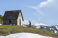 Chapel and statue of abb� Pie...