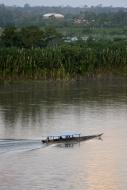 Peru, Puerto Maldonado, Boat ...