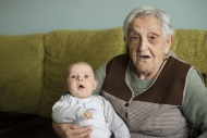 Old woman and her great-grand...