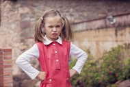 Portrait of little girl with ...