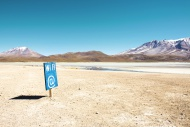 Bolivia, Potosi, Wi Fi sign i...
