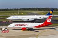 Lufthansa Airbus A340 and Air...