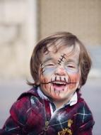 Portrait of smiling little bo...