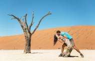 Namibia, Namib Desert, happy ...