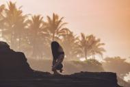 Indonesia, Bali, woman practi...