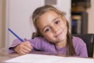 Portrait of smiling little gi...