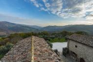 Italy, Umbria, Gubbio, View f...