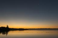 Germany, Hagnau, Moon over La...