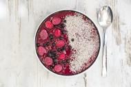Raspberry blueberry smoothie ...