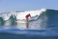 Indonesia, Bali, Surfer on wave