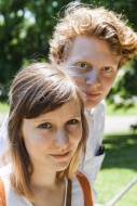 Portrait of young couple