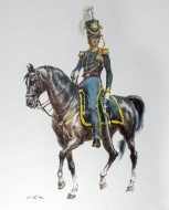Officer on horseback in 1836 ...