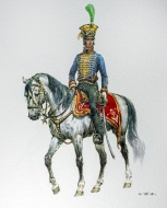Austrian cavalry officer on h...
