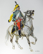 Hussar guide on horseback in ...