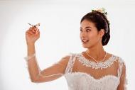 Portrait of a young bride, bu...