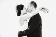 Bridal pair, in love, man kis...