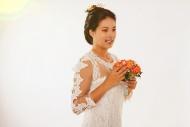Bride with bridal bouquet, St...